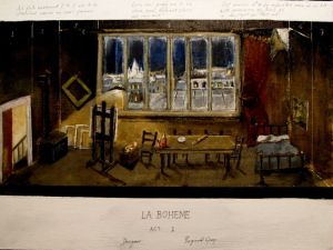 Reginald Gray set design La Boheme