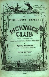 The Posthumous Papers of the Pickwick Club original cover