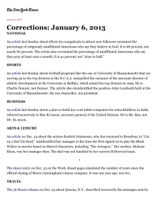 Corrections page
