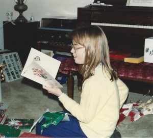 Kris'childhood aspirations are captured in this circa 1970s photo: music and books.