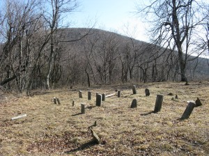 A well-maintained old cemetery in the Blue Ridge Mountains.