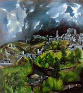 "El Greco, ""View of Toledo"", 1600"