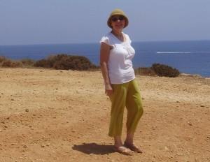 Patricia VanAmberg on Cyprus.