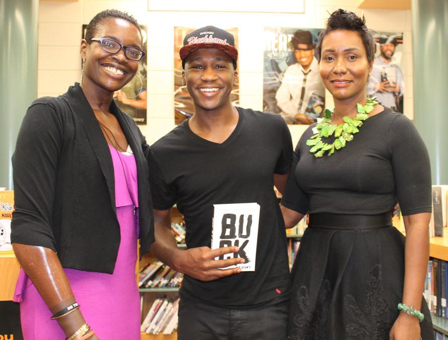 Teachers Gillian Crevelle and Rayna Dubose, teachers at Homewood, are big Asante fans.